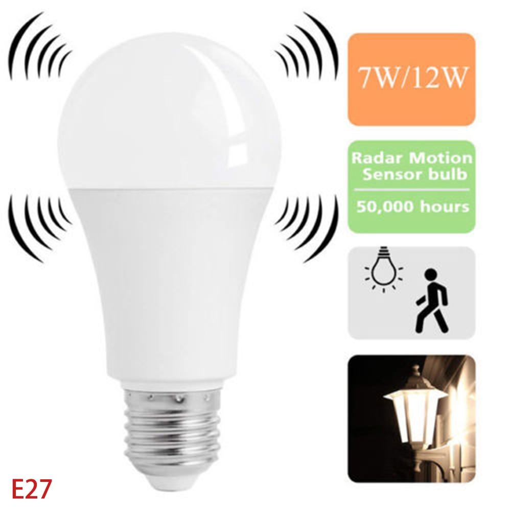 LED Light E27 LED Bulb Radar Motion Sensor Bulb AC 220V 240V 12W 9W 7W 5W Lampada LED Spotlight Table Lamp