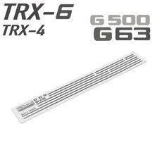 Chrome Car Body Trims Decorative Strips for TRAXXAS TRX6 G63 6X6 RC Car Upgrade Parts