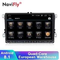 Navifly Android 8.1 2Din Auto radio stereo GPS-Player Für Skoda Sitz Volkswagen B6 B7 Passat golf Polo Passat CC auto multimedia