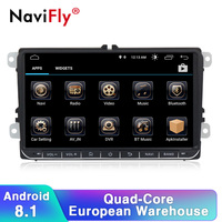 Navifly free shipping Android 8.1 Car radio stereo GPS Player For Volkswagen B6 B7 Passat golf Polo Passat CC car multimedia