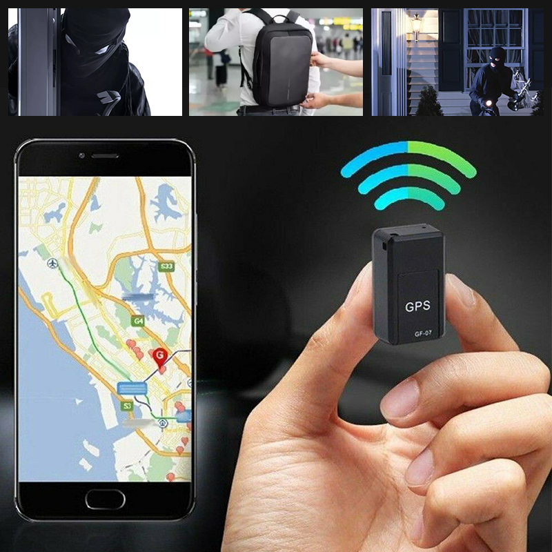 Localizador de rastreador Mini GPS para coche antirrobo rastreador de Gps para coche en tiempo Real dispositivo de seguimiento de grabación antipérdida Control de voz