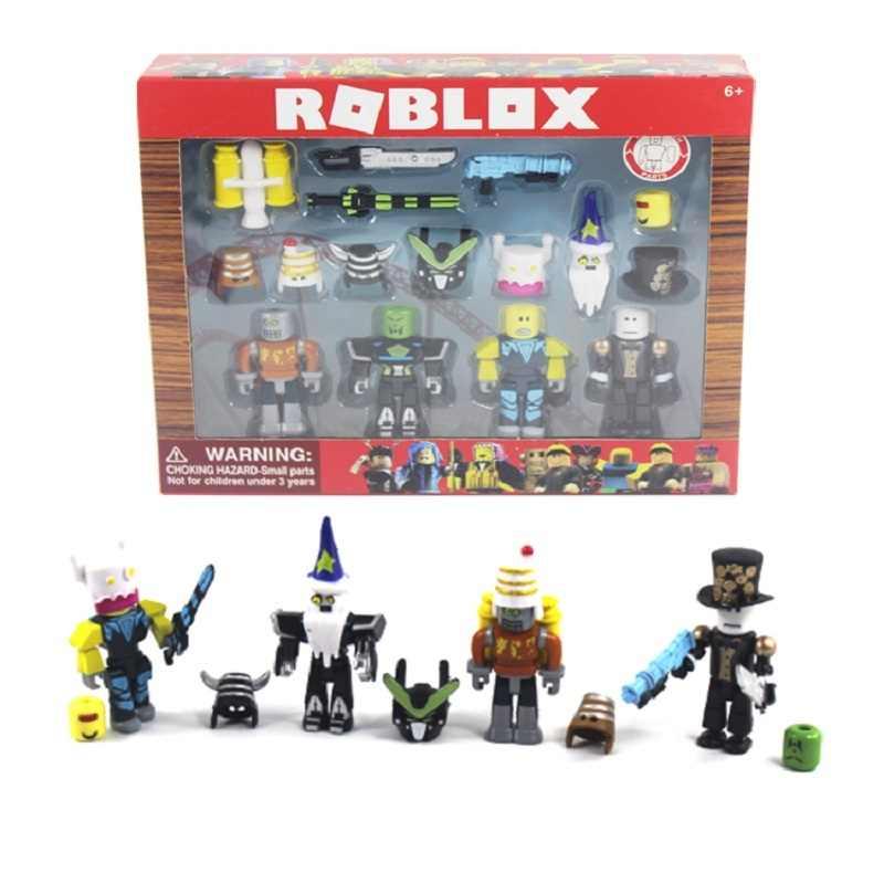 2019 Engraçado alegria terno novo Robloxs Figura jugetes Robloxs 7 centímetros Jogo PVC Figuras Meninos Brinquedos para roblox-jogo