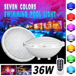 IP68 Водонепроницаемый светодиодный подводный светильник s 36 Вт, светодиодный светильник для фонтанов и прудов, 12 В постоянного тока, уличный ...