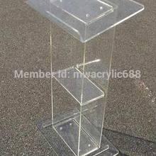 Популярная квадратная Красивая Современная дизайнерская дешевая прозрачная акриловая Трибуна акриловая Подиум плексиглас