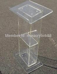 Kanzel möbel Freies Verschiffen Popularität Squre Schöne Moderne Design Billig Klaren Acryl Rednerpult acryl podium plexiglas