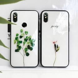 На Алиэкспресс купить стекло для смартфона tempered glass case for vivo v11 v11i v17 pro v9 v7 plus v3 max green plant hard cover for vivo v15 pro v5s v5 lite phone casing