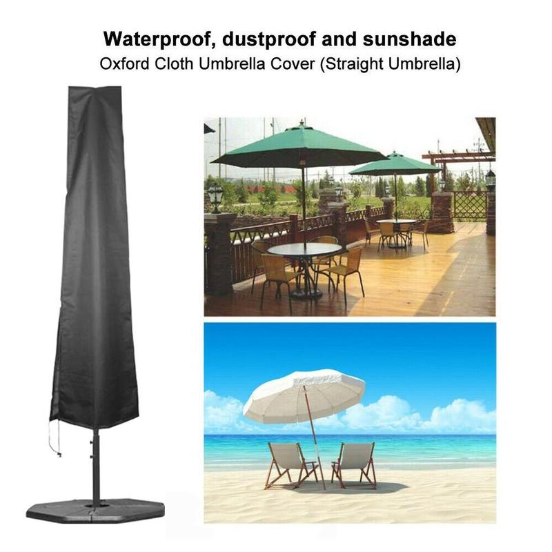 Waterproof Oxford Cloth Outdoor Umbrella Cover Shade Garden Weatherproof Patio Cantilever Parasol Rain Cover Accessories