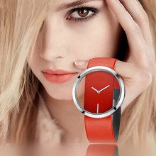 Korean-style Stylish Casual Leather Belt Watch Simple Dial Quartz Watch Fashion Transparent Porous Men's And Women's Watch