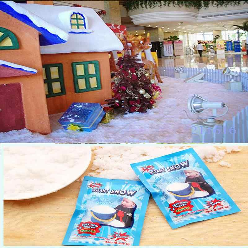 Man-made Artificial Snow Powder DIY Make Your Own Snow New Novel Snowflake Absorbant Instant Snow Christmas Decoration
