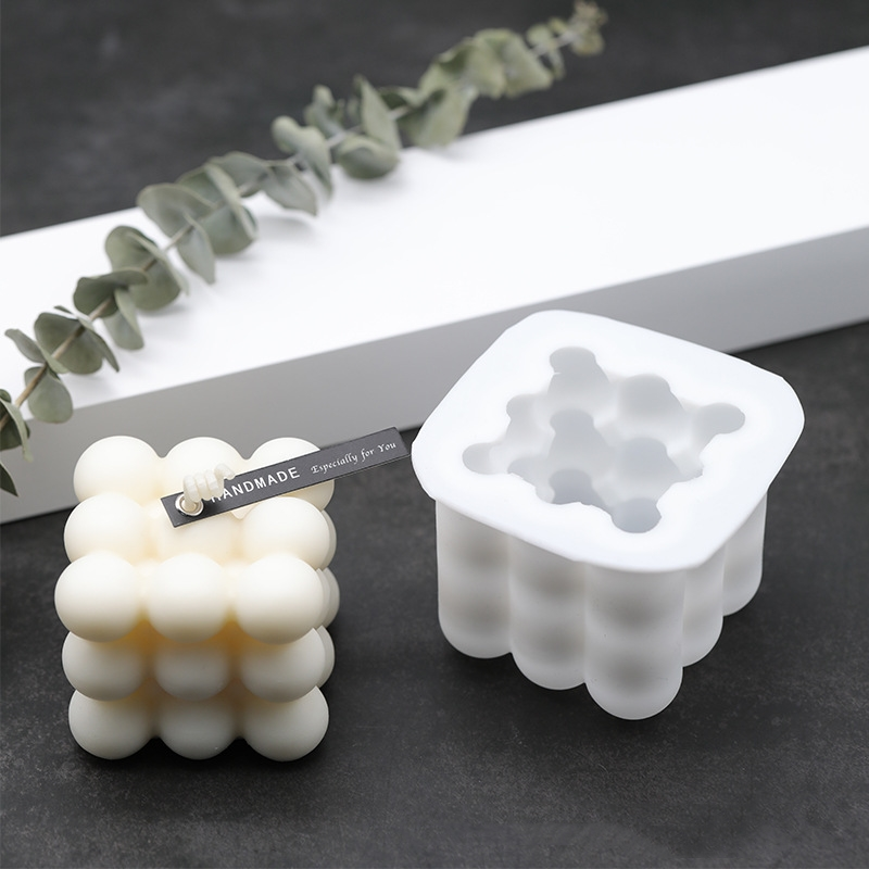 1PC 3D Silicone Mold DIY Candles Mould Soy Wax Candle Mold Aromatherapy Plaster Candle Handmade Soy Candles Aroma Wax Soap Molds