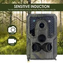 Cámara de caza al aire libre, cámara de visión nocturna infrarroja HD de 12MP, grabación de monitoreo en vivo de animales, cámaras de rastreo, 1080P