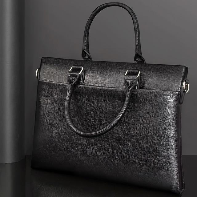 TIANSE กระเป๋าเอกสารผู้ชายกระเป๋าหนังแท้กระเป๋าแล็ปท็อปธุรกิจ Tote สำหรับเอกสารสำนักงานแบบพกพากระเป๋าแล็ปท็อป