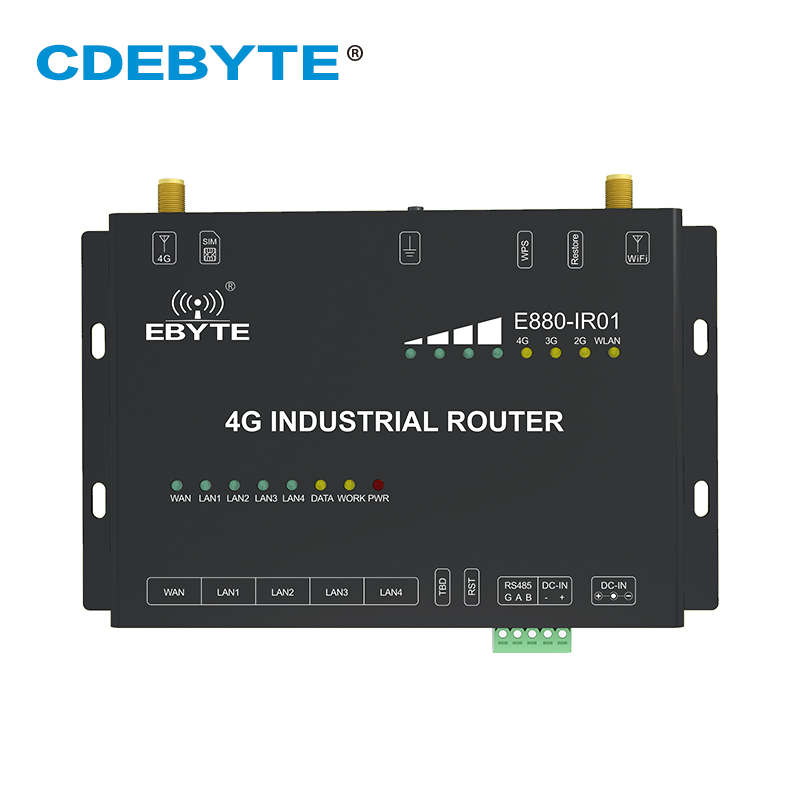 E880-IR01 RS485 4G Wireless Router 5V-36V AT Command WAN LAN Network Port Wireless WiFi Router