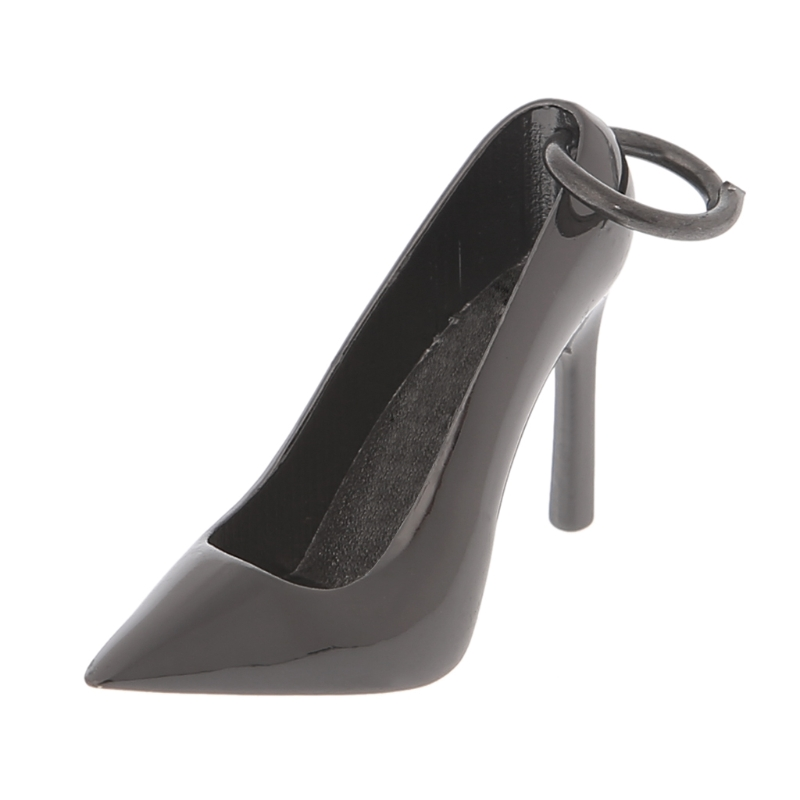 1PC Women High Heel Shape Keychain Metal Shoe Purse Charm Pendant Bag Keyring