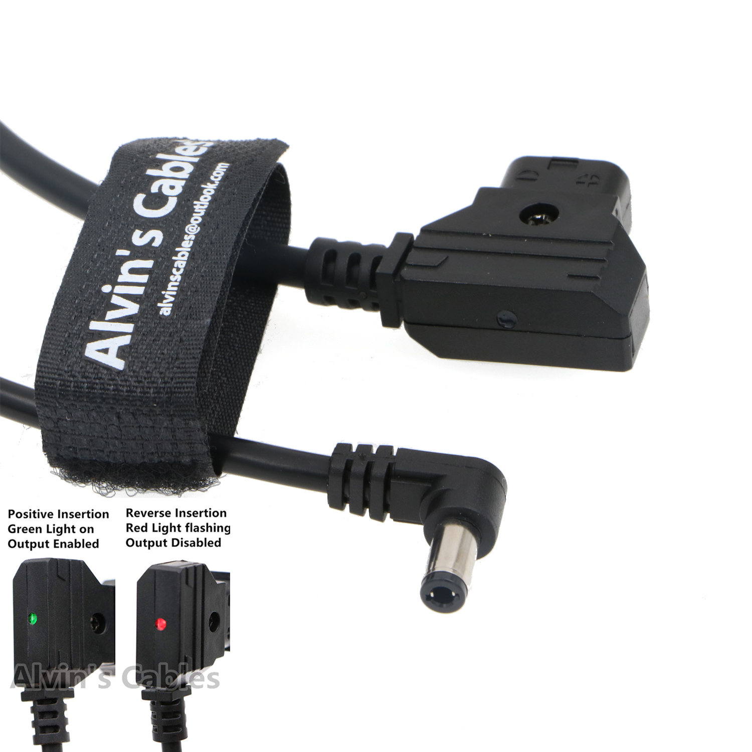 Alvins Cables Anton Bauer Power Tap D-Tap to 2.1 DC Right Angle 12v Cable for KiPRO LCD Monitors 1.5M