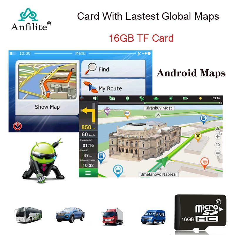 GPS aksesuar 16G sd kart GPS haritalar Android için 5 inç 7 inç araba gps navigasyon son harita avrupa/rusya/abd/CA/AU/İsrail haritası