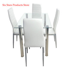 Dining-Table-Set Chairs with 4pcs Transparent Creamy White 110cm 110cm
