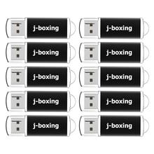 J אגרוף 10PCS 1GB USB Flash תפזורת 2GB מלבן אגודל כונני 4GB 8GB USB זיכרון מקל 16GB 32GB Pendrive עם כובע שחור
