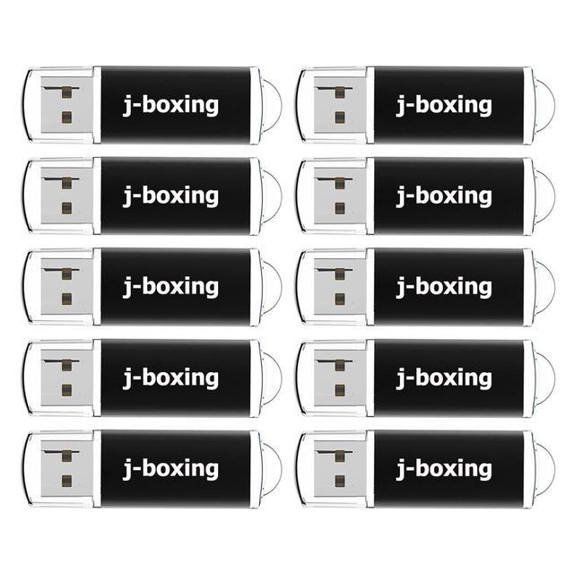 J boxen 10PCS 1GB USB Sticks Groß 2GB Rechteck Thumb Sticks 4GB 8GB USB Memory Stick 16GB 32GB Usb Stick mit Kappe Schwarz