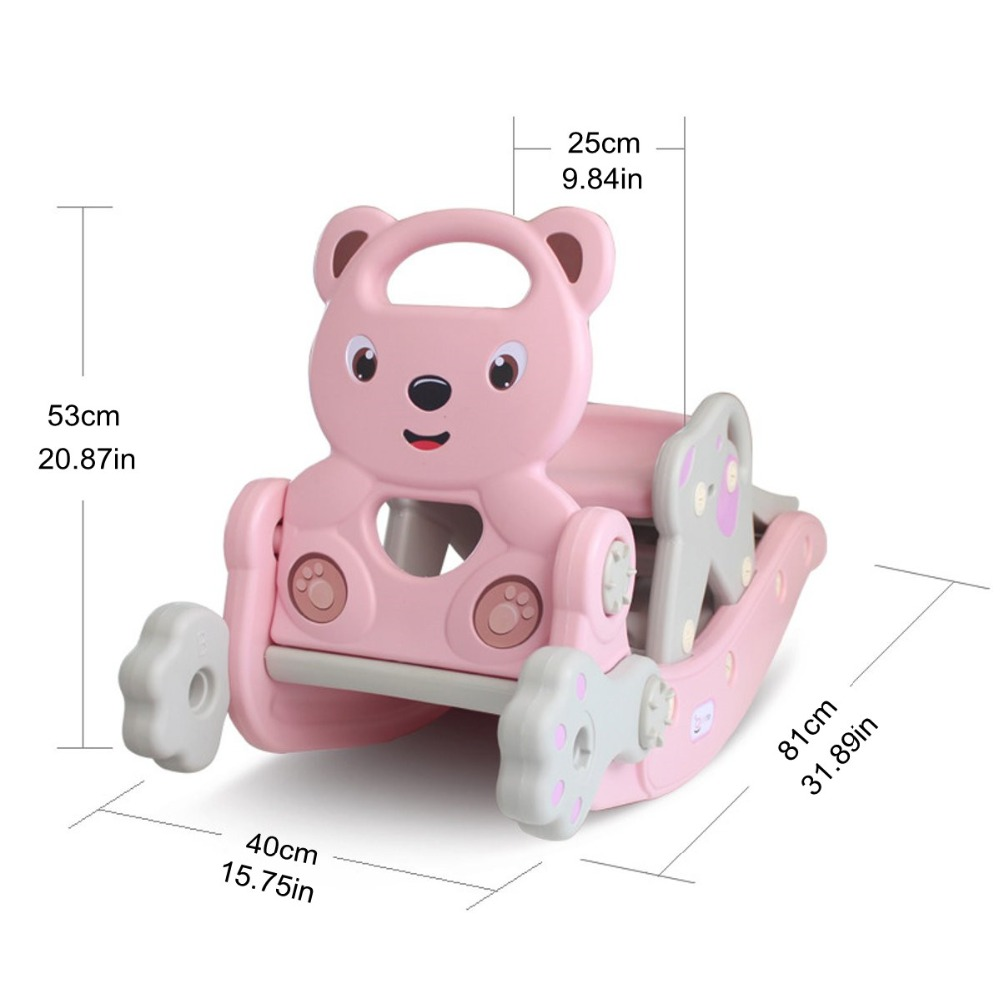 H9d606d0d7f5d4abaa7e378ca576a3bc8n IMBABY 3 in 1 Baby Rocking Horse Slide Basketball Box Children's Kids Toys Indoor Outdoor Kindergarten Safety Game Exercise Toys