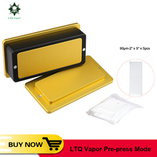 LTQ vapor Pre Press Mold 2x4inch Loading 7 to 12g Extraction and Pressing Electronic Cigarette Tool Kit For colophony press