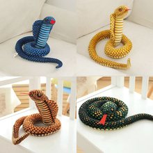 110cm simulation cobra and python snake plush toy soft hair twelve Zodiac toys children funny gifts party