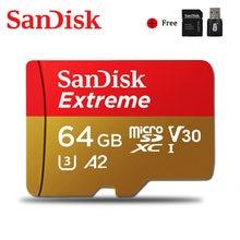 Extrema SanDisk Originais Micro SD de Ultra 128GB GB 32 64GB 256GB 400GB Cartão de Memória A2 V30 U1/U3 4K 32 64 MicroSD 128gb Cartão de Memória Flash