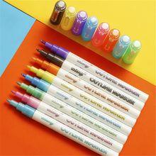 Self-outline Metallic Markers, 8pcs Double Line Pen BuIIet Journal Pens & Colore