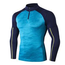 Męskie koszulki sportowe Rashgurad męskie koszulki do fitnessu koszulki z krótkim rękawem bielizna termiczna mężczyźni odzież sportowa kompresja odzież sportowa topy tanie tanio Linxport CN (pochodzenie) Wiosna summer AUTUMN Winter Poliester Pasuje prawda na wymiar weź swój normalny rozmiar 100 Brand New and High Quality