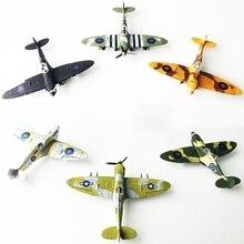 Детские игрушки для мальчиков 4D Spitfire RECEPT Fighter окрашенная версия 1:48 Военная Сборная модель самолета Обучающие игрушки случайный цвет