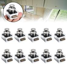 10pcs Practical Cupboard Push Button Catch Lock Knob Cabinet Latch Camper RV Motorhome Furniture Locks