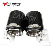 פחמן סיבי מיני צעיף קצה מפלט טיפים Fit עבור מיני קופר R55 R56 R57 R58 R59 R60 R61 F54 F55 f56 F57 F60 מיני צעיף טיפ