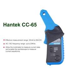 Hantek CC65 CC650 Ac/Dc Stroomtang Meter Voor Oscilloscoop 400Hz Bandbreedte 1mv/10mA 650A CC-650 Met bnc/Type Banaan Connector
