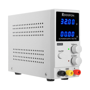 Image 3 - 30V 10A מיני מתכוונן DC אספקת חשמל K3010D 4 ספרות תצוגת מתג רגולטור מעבדה אספקת חשמל עבור טלפון נייד תיקון
