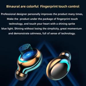 Image 5 - AIRVOLT F9 V5.0 Bluetooth 5.0 Earphones TWS Fingerprint Touch Headset HiFI Stereo In ear Earbuds Wireless Headphones for sport