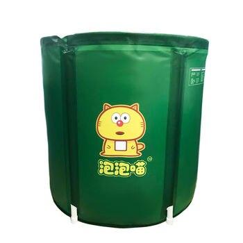Full Body Round Folding Tub Plastic Bath Barrel Adult  Inflatable tub Thickened  Home
