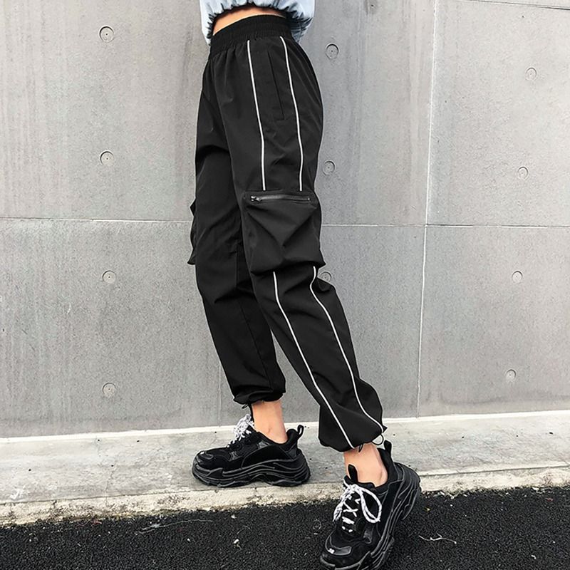 Harlan Pants Hip Hop Tooling Autumn Cool 2019 Pants Street Trend Solid Color Hip Hop Pants Harem Pants Ins Fashion Overalls19
