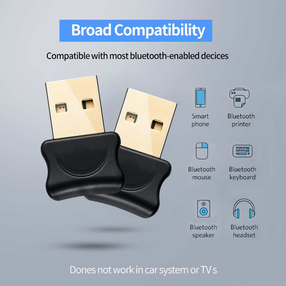 USB Bluetooth 5.0 Transmitter Bluetooth Audio Receiver Wireless Transmitter Dongle Adapter AUX Auto for Computer PC Laptop 2