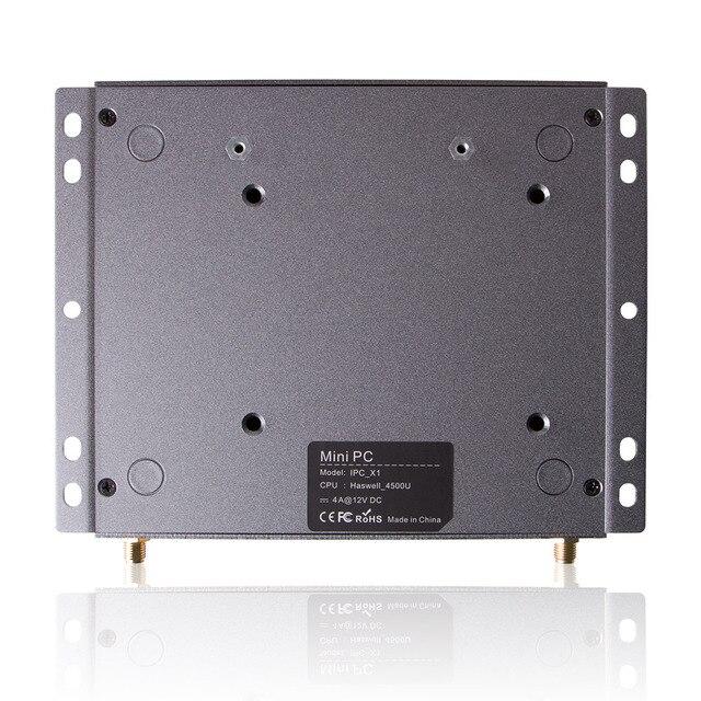 Intel Core i5 4200U i7 4500U Mini PC fanless industrial Desktop Computer with Windows 10 or Linux thin client HTPC 6