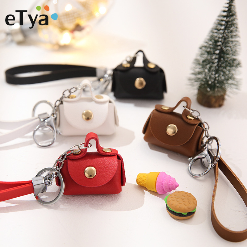 New Fashion Ladies PU Leather Mini Wallet Car Key Holder Coin Purse Clutch Bag Housekeeper Keychain Small Handbag Bag Purses