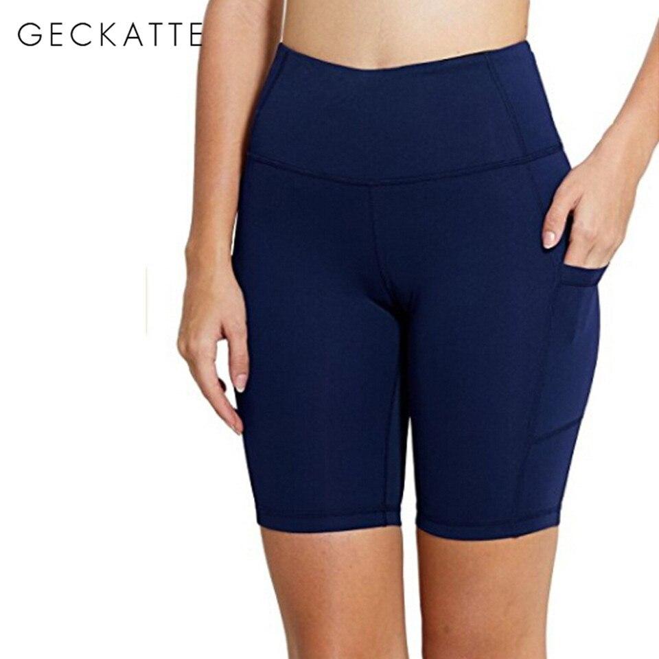 Black Short Leggings Women Workout Elastic HIgh Waist Legging Fitness Solid Color Leggins Mujer Pants Spandex Seamless Leggin