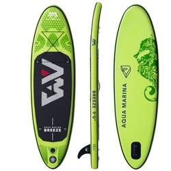 Tabla de surf 275*76*12cm AQUA MARINA BREEZE Sup Inflable Tabla de paddle up pesca kayak barco correa de pierna asiento plegable dinghy