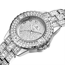 Women Watches Full Diamond Luxury Quartz Wristwatch Fashion Water Resistant Ladies Watch Reloj Mujer Gift for Women Luxury Brand