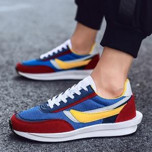 Image 1 - Yeni ayakkabı erkekler Zapatillas Hombre koşu rahat ayakkabı nefes örgü ayakkabı moda rahat erkek ayakkabısı yetişkin Chaussure Homme