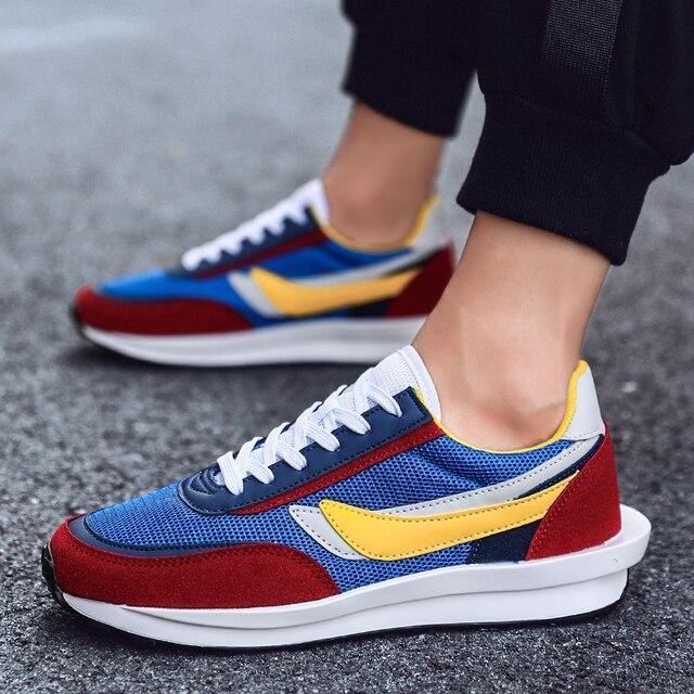 Yeni ayakkabı erkekler Zapatillas Hombre koşu rahat ayakkabı nefes örgü ayakkabı moda rahat erkek ayakkabısı yetişkin Chaussure Homme
