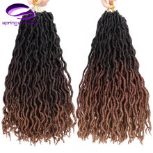 12inch 18inch Ombre Braiding Hair Faux Locs Curly Crochet Hair Extensions Soft Dreads Crochet Braids Dreadlocks(China)