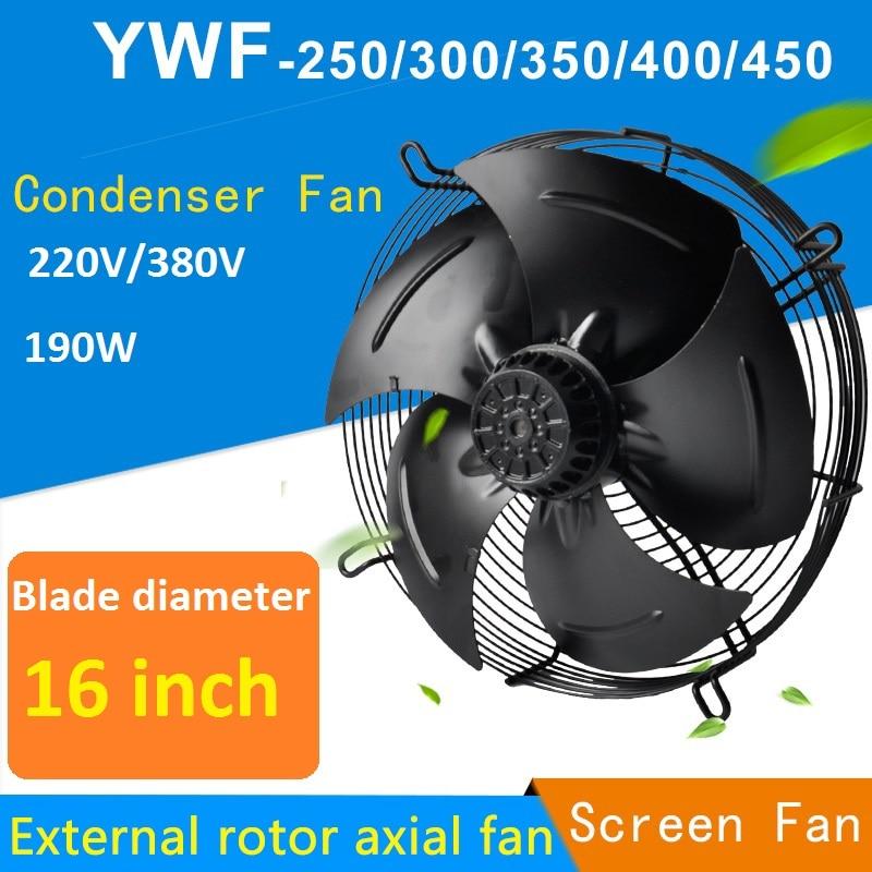 190W External Rotor Axial Fan YWF4E/4D-400S Condenser Fan 220/380V