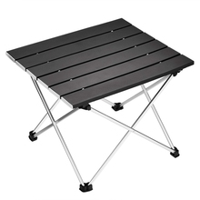 Portable Folding Camping Table Aluminum Desk Table Top Suitable for Outdoor Picnic Barbecue Cooking Holiday Beach Hiking Trave 70 70 69cm aluminum alloy folding table portable outdoor barbecue table camping table picnic desk