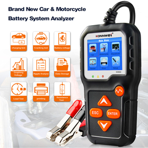 Image 2 - KONNWEI KW650 Car Battery Tester For 6V/12V Analyzer 100 to 2000 CCA Car Quick Cranking Charging Tester PK KW600 Battery Tool