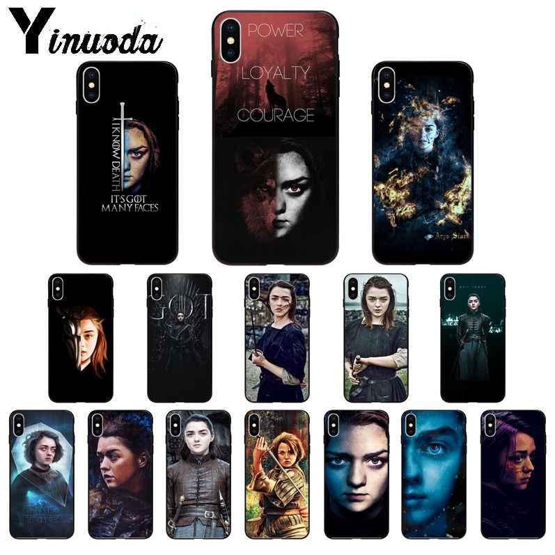 Yinuoda Game Of Thrones Arya Stark TPU Lembut Silicone Ponsel Case untuk iPhone 8 7 6 6S Plus X XS Max 5 5S SE XR 11 11pro Max Cover